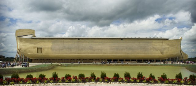 Die nachgebaute Arche Noah in Grant County, Kentucky. bild: arkencounter